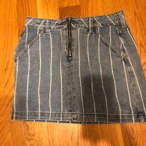 Pacsun striped mini skirt
